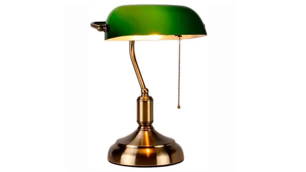 Véritable lampe de banquier